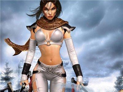 Тёмная воительница-воин